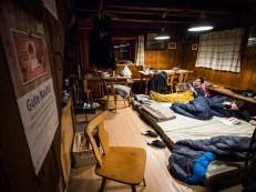 Na noc jsme si ve Winterraumu udělali lůžkovou úpravu