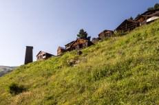 Vesnice Verkhovani, pod níž jsme strávili druhou noc