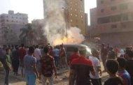 حريق فى خط غاز بمنشية عبد المنعم رياض بشبرا الخيمة