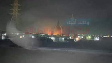 Photo of عاجل .. ننشر أول صور لحريق خط انابيب البترول فى البحيرة