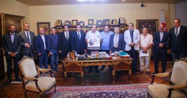 صورة حمدى النجار رئيسا لشعبة المستوردين باتحاد الغرف التجارية