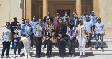 وفد برلمانى يزور المتحف اليونانى والرومانى والمعبد اليهودى بالإسكندرية