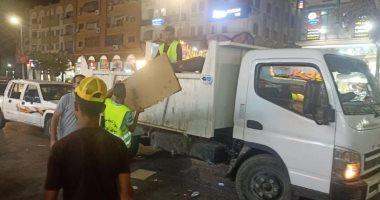 جهاز مدينة دمياط الجديدة يشن حملة ليلية مكبرة لإزالة الإشغالات والمخالفات
