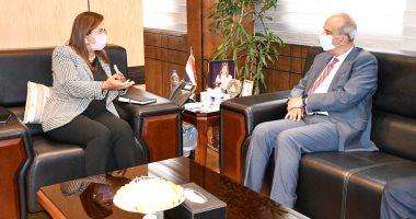 وزيرة التخطيط تلتقي مرشح رئاسة بعثة مصر إلى الأمم المتحدة لبحث التنسيق المشترك