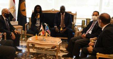الرقابة المالية تستقبل وفداً من دولة جنوب السودان لتبادل الخبرات