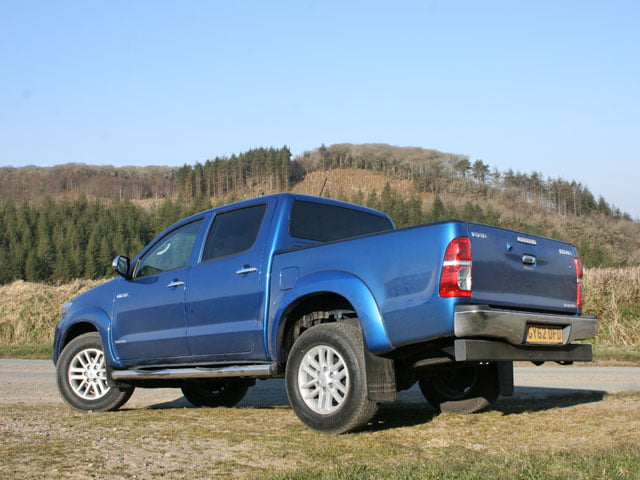 Rear of Toyota Hilux Invincible