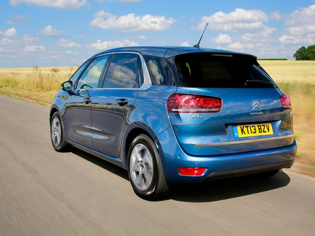 Rear of Citroën C4 Picasso on the road