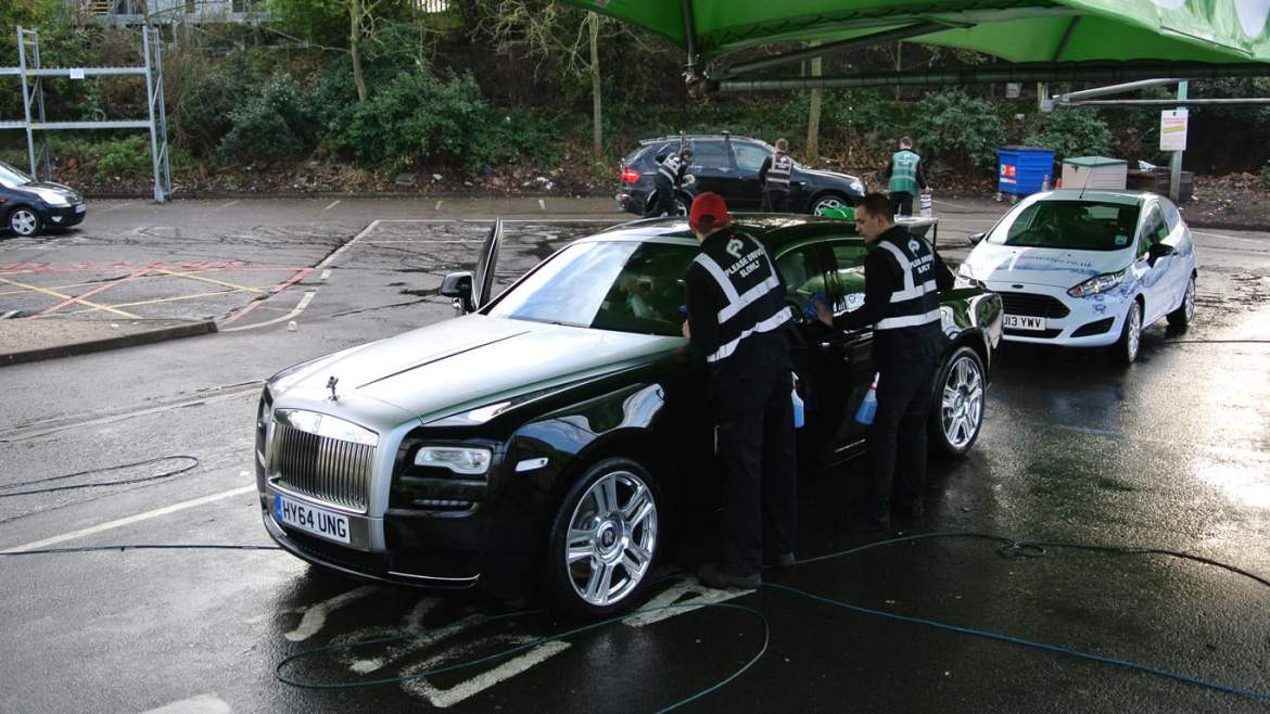 Rolls-Royce Ghost at the hand wash