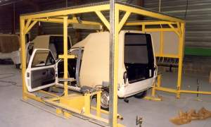 Volkswagen Polo Transfer in construction