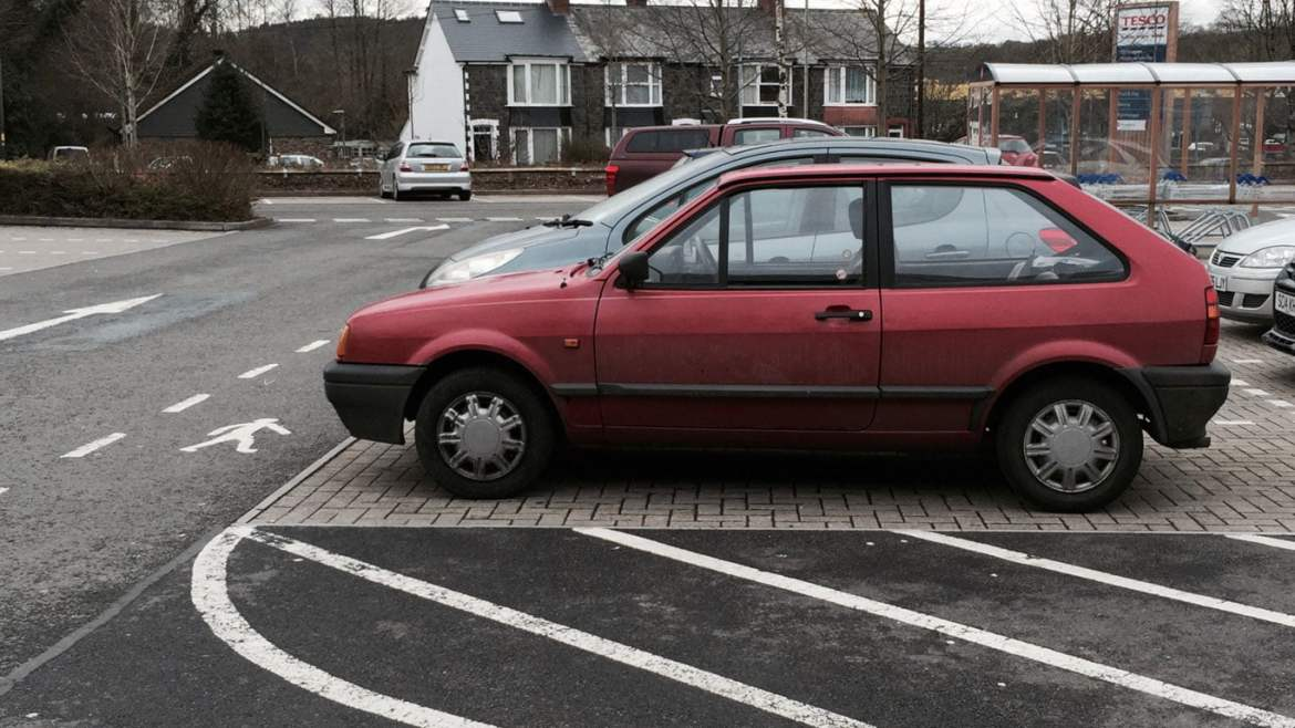 Red Volkswagen Polo