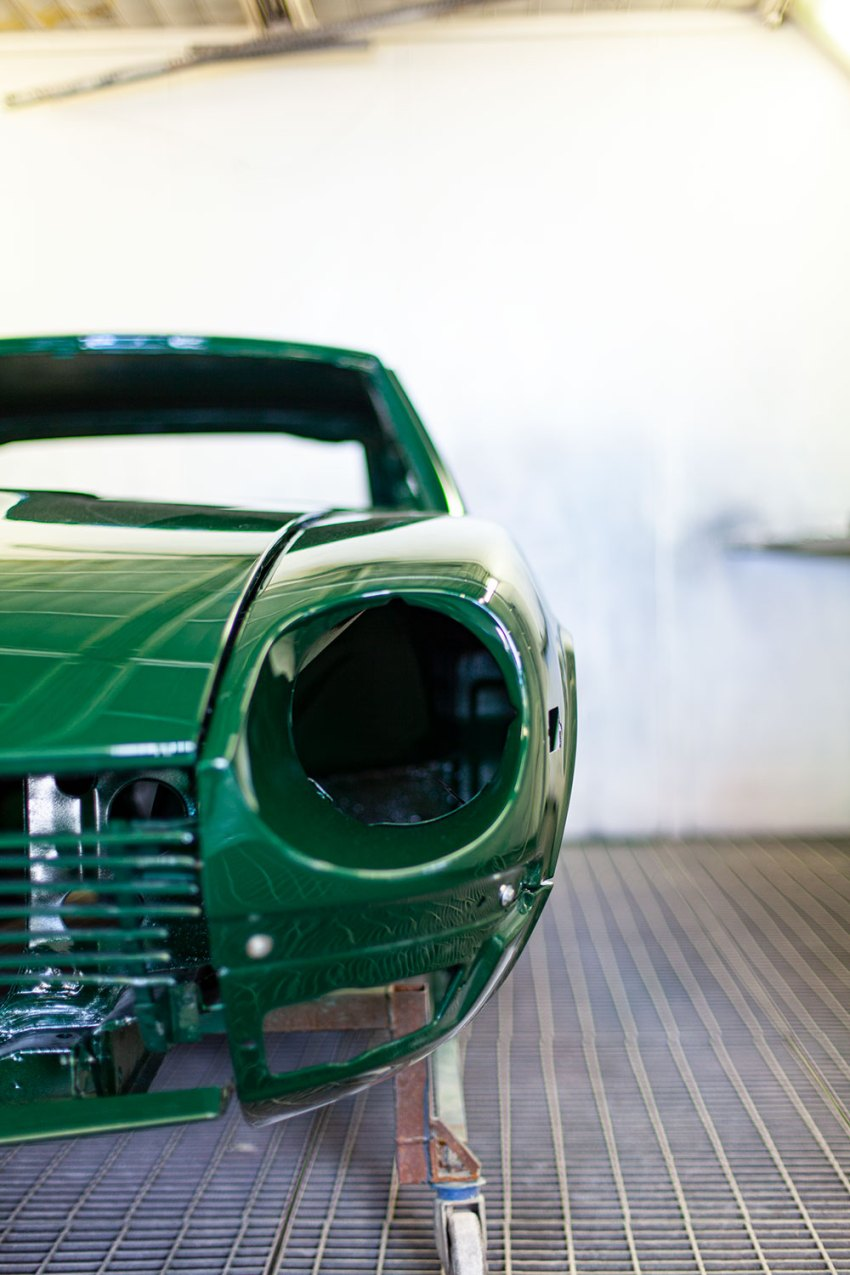 Datsun 240z repainted in Racing Green