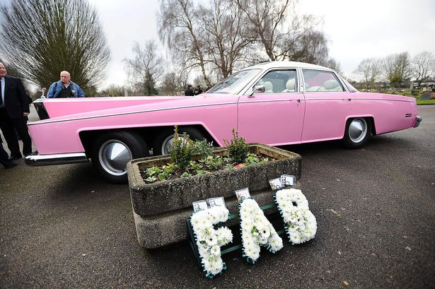 Fab 1 Rolls Royce at Gerry Andersons funeral