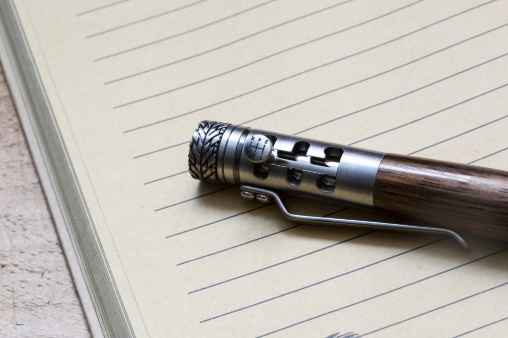 Gear stick pen