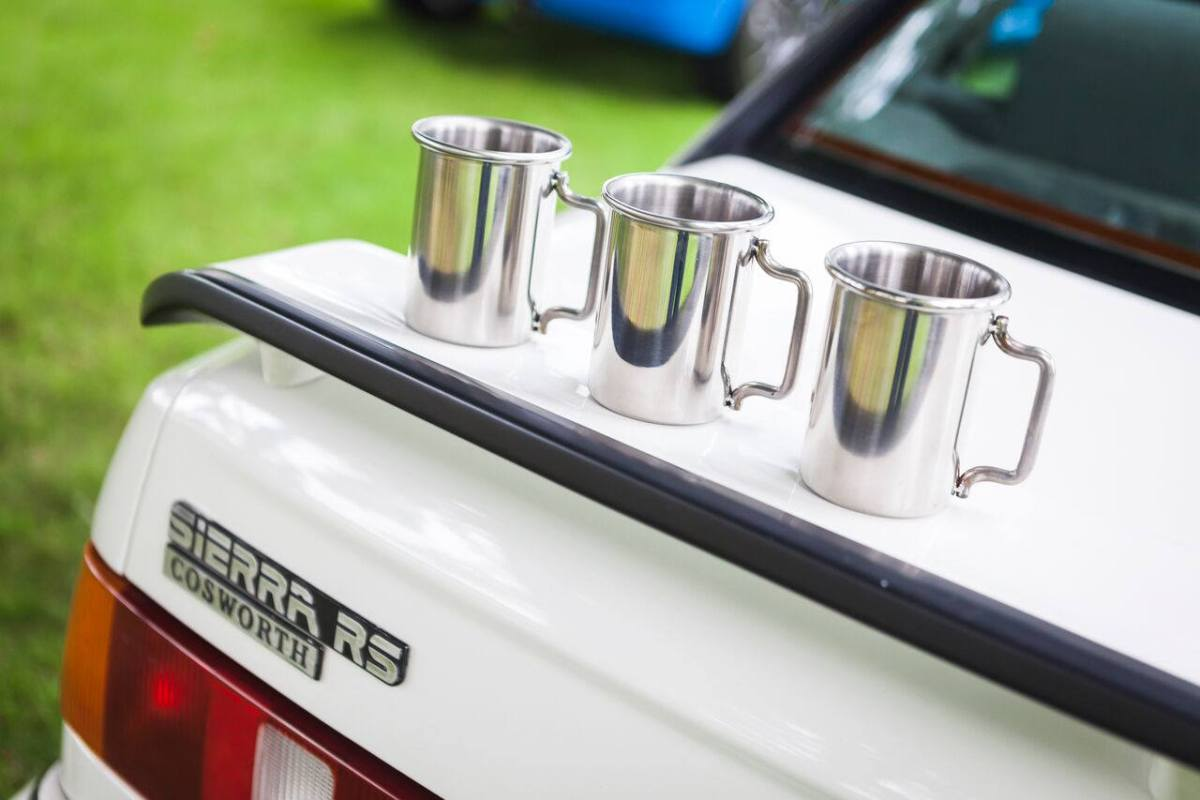 Rolled Tip Stainless Exhaust Mug