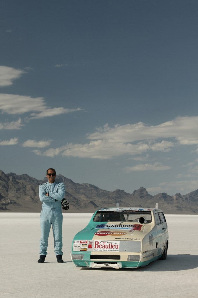 Saline Warrior at the Bonneville Salt Flats