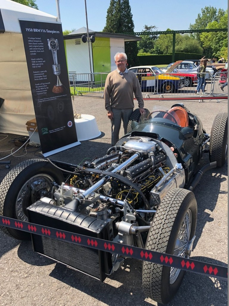 Tony Draper reunited with 1950 BRM V16