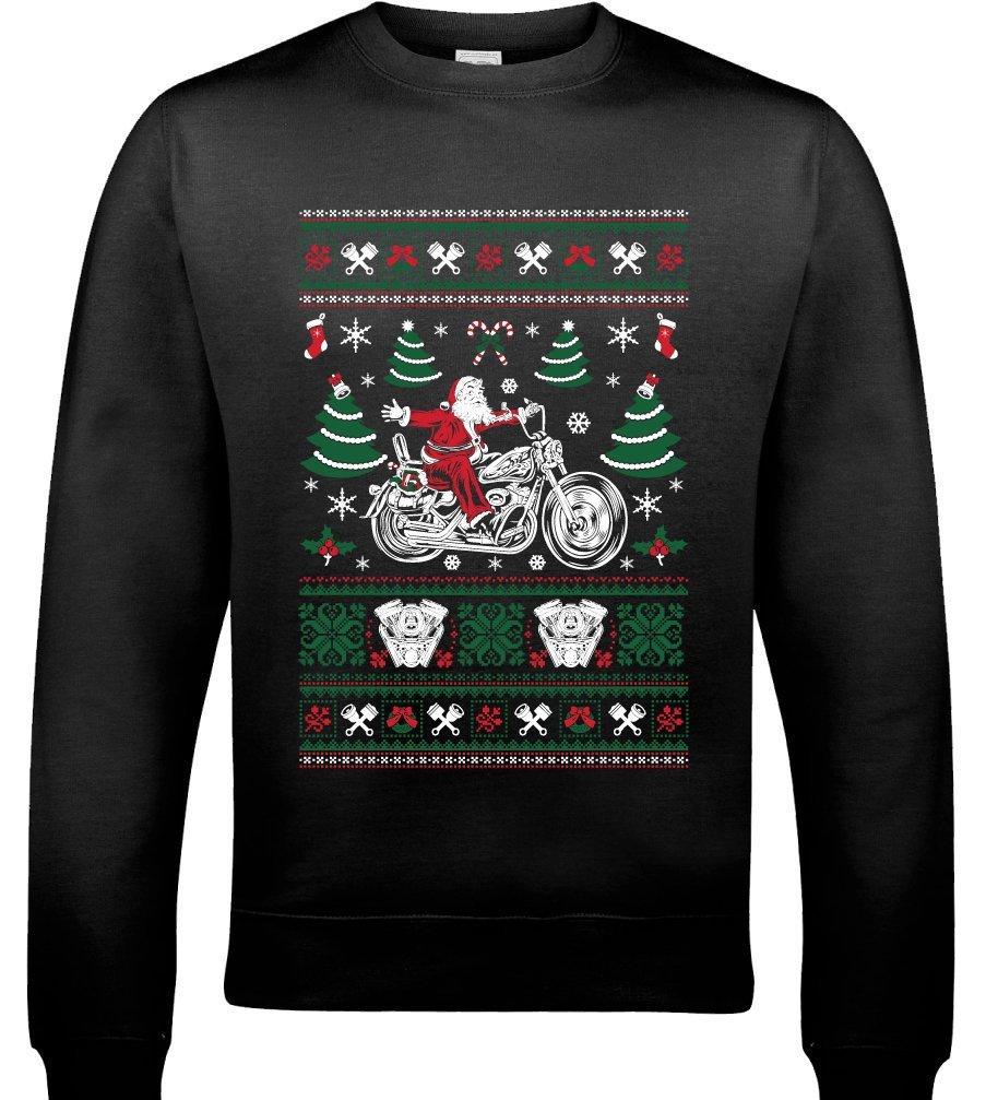 Biker Santa motorbike jumper