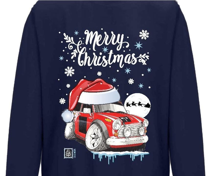 Classic Mini Cooper S Car Christmas Jumper
