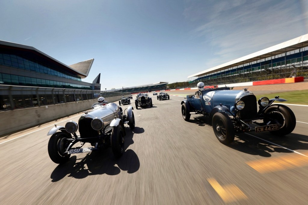 Bentley Vintage Cars at Silver stone