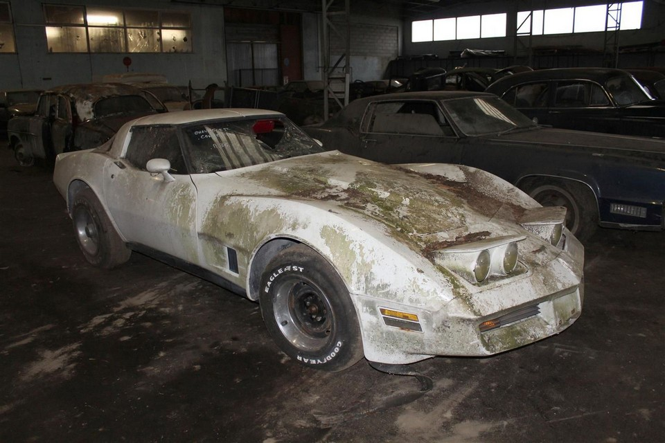 Corvette French barn find