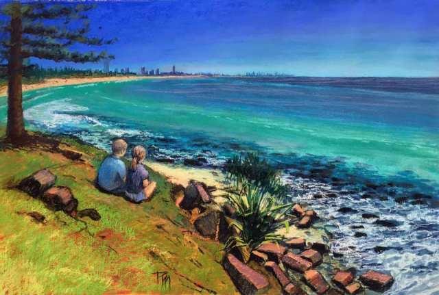 beach scene by Petronella van Leusden