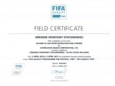 certyfikat FIFA STAR 2