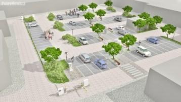 Wizualizacja parkingu