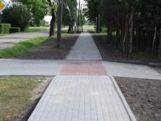 Chodnik przy ul. Szkolnej w Radzanowie