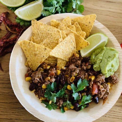 Chili con carne guacamole - pétronille Lampion