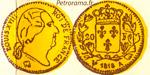 Gravure 20 francs or Louis XVIII