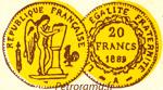 gravure 20 francs or III république