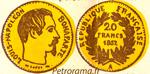 Gravure 20 francs or Louis Napoléon Bonaparte