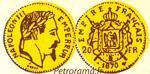 gravure 20 francs or Napoléon III