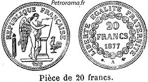 gravure pièce de 20 francs or génie