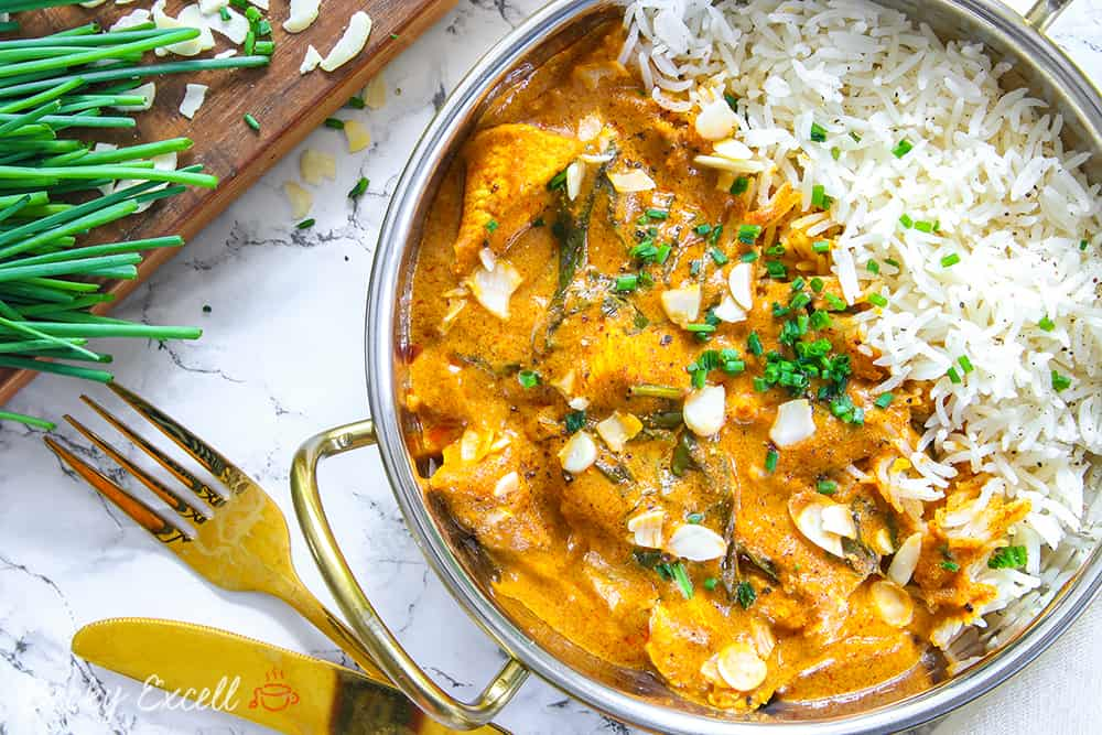 Indian chicken with curry and coconut milk sauce - Πέτρος ...