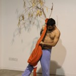 "Petros Konnaris, from the Performance Art workshop ""SenseSelfEssence by Christina Georgiou, 31 Oct.-2 Nov. 2014, ARTos Foundation, Nicosia - Cyprus"