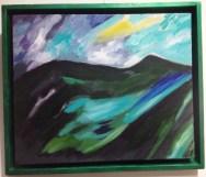 Montagnes turquoises, 2013 (39x46 cm)