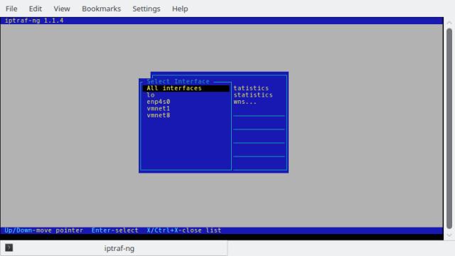Menu pemilihan IP Static Monitor