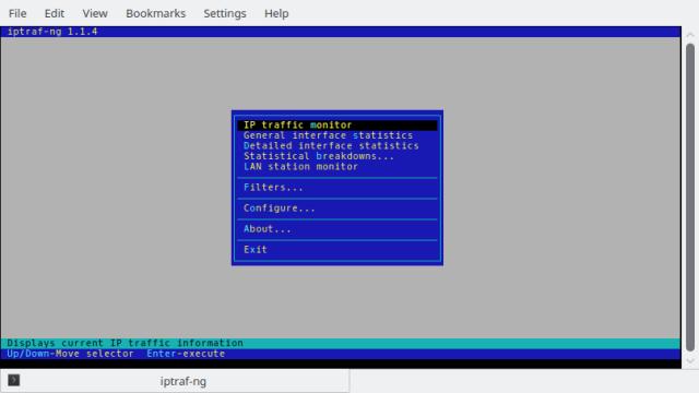 IPTraf-NG Main Screen
