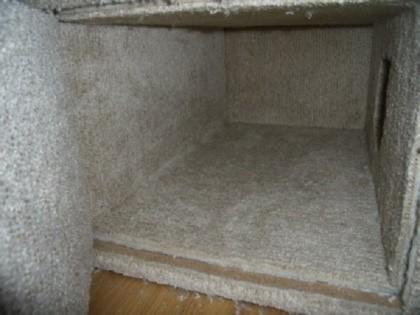 As instalações são melhores para separar o pano do interior