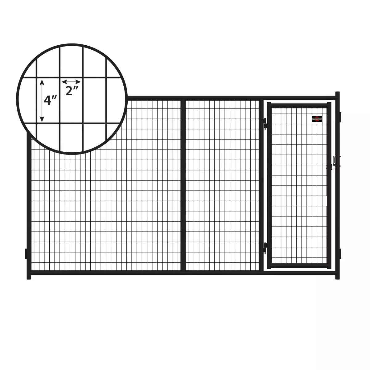 6ft H X 10ft W Heavy Duty Steel Kennel Gate