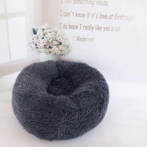 Orthopedic Relief Round Lux Fur Donut Cuddler Cat and Dog Cushion Pet Bed