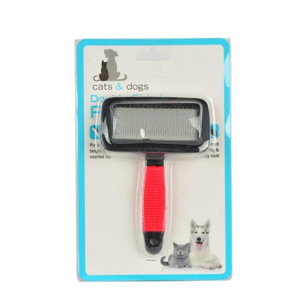 Pet Pin Brush Dog Cat Hair Fur Grooming DeShedding Cleaning Tangles