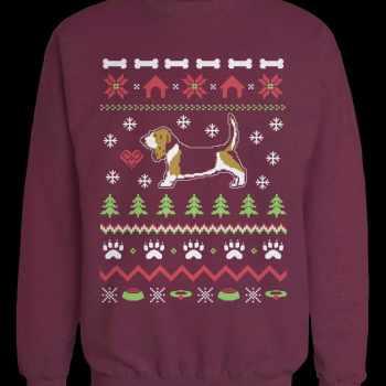Basset Hound Christmas Sweater