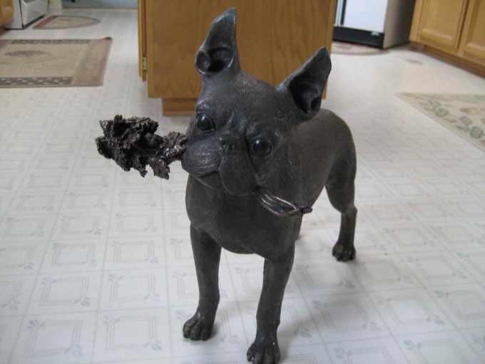 Boston Terrier Statues