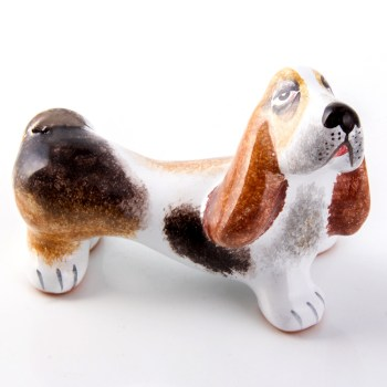Ceramic Basset Hound Figurines