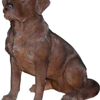 Chocolate Labrador Garden Statues