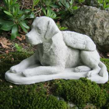 Concrete Labrador Dog Statues