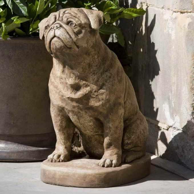 Garden Pug Statue