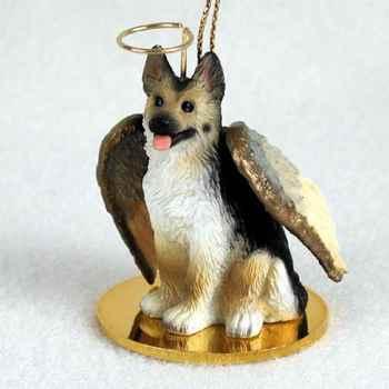 German Shepherd Angel Statue
